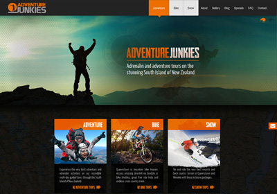 Website design and build for a NZ adventure tour company